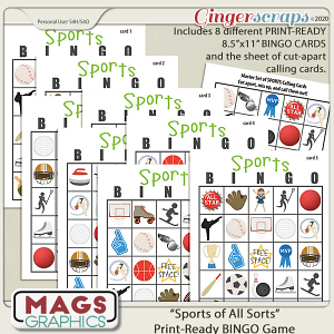 Sports BINGO Game by MagsGraphics