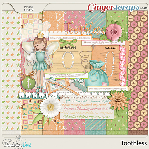 Toothless Digital Scrapbook Kit by Dandelion Dust Designs