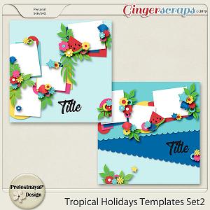 Tropical Holidays Templates Set2