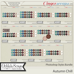 Autumn Chill CU Photoshop Styles Bundle