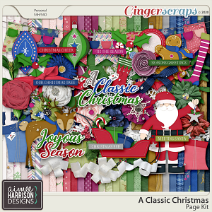 A Classic Christmas Page Kit by Aimee Harrison