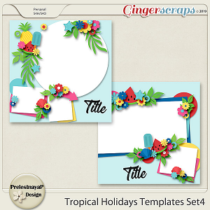 Tropical Holidays Templates Set4