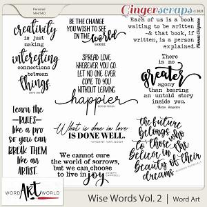 Wise Words Vol. 2 Word Art