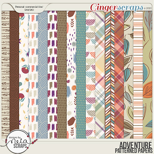 Adventure - Patterned Papers - by Neia Scraps
