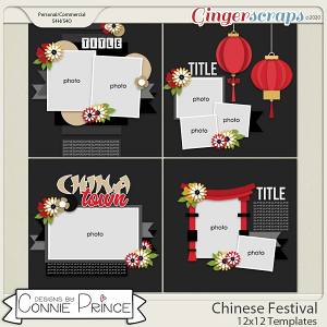Chinese Festival - 12x12 Templates (CU Ok) by Connie Prince