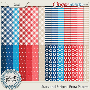 Stars and Stripes - Extra Papers by CathyK Designs