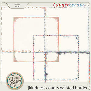Kindness Counts Painted Borders by Chere Kaye Designs