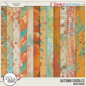 Autumn Cuddles - Artsy Papers - by Neia Scraps and JB Studio