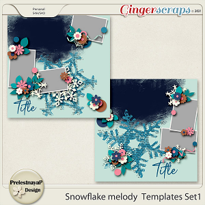Snowflake melody Templates Set1