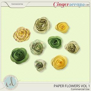 CU Paper Flowers Vol 1 by Ilonka's Designs