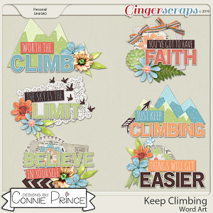 Keep Climbing - Word Art Pack by Connie Prince