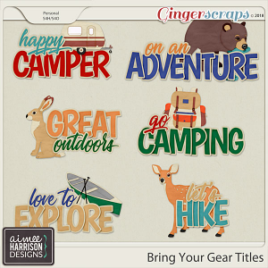 Bring Your Gear Titles by Aimee Harrison