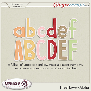 I Feel Love - Alpha by Aprilisa Designs.