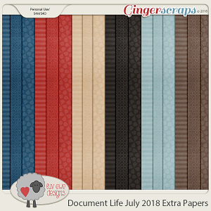 Document Life July 2018 Extra Papers by Luv Ewe Designs