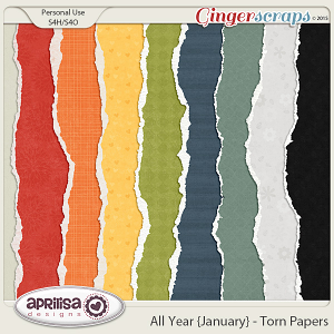 All Year {January} - Torn Papers