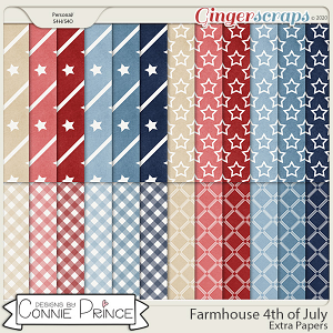 Farmhouse 4th of July - Extra Papers by Connie Prince