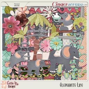 Elephants Life-Page Kit