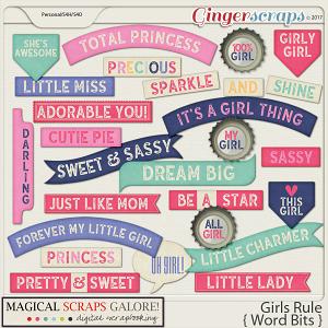 Girls Rule (word bits)