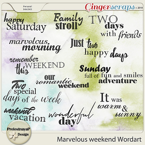 Marvelous weekend Wordart