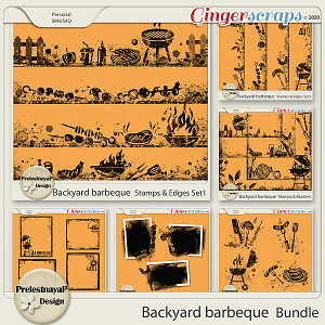 Backyard barbeque Masks & Stamps Bundle