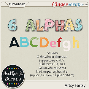 Artsy Fartsy ALPHABETS by Heather Z Scraps