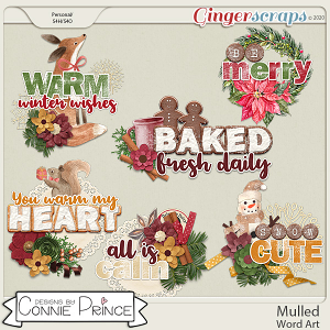 Mulled - Word Art Pack by Connie Prince