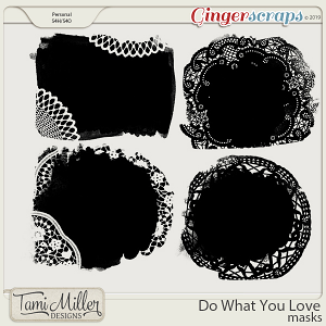 Do What You Love Masks by Tami Miller Designs