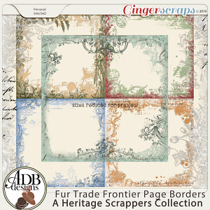 Fur Trade Frontier Page Borders by ADB Designs