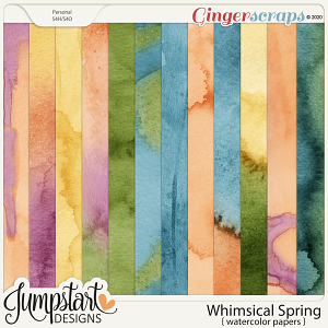 Whimsical Spring {Watercolor Papers} by Jumpstart Designs