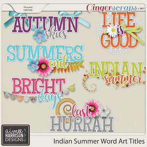 Indian Summer Word Art by Aimee Harrison