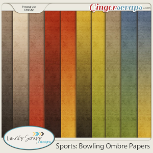 Sports: Bowling Ombre Papers