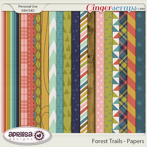 Forest Trails - Papers by Aprilisa Designs