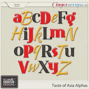 Taste of Asia Alpha Sets by Aimee Harrison