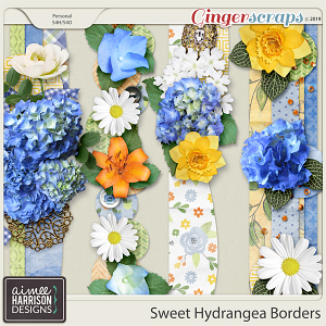 Sweet Hydrangea Borders by Aimee Harrison