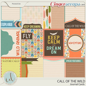 Call Of The Wild Journal Cards by Ilonka's Designs