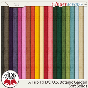 A Trip To DC - U.S. Botanic Garden Solid Papers by ADB Designs