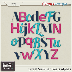 Sweet Summer Treats Alpha Sets by Aimee Harrison