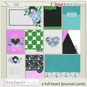 A Full Heart Journal Cards by Shepherd Studio