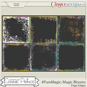 PureMagic: Magic Blooms - Page Edges  by Connie Prince
