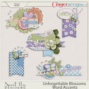Unforgettable Blossoms Word Accents