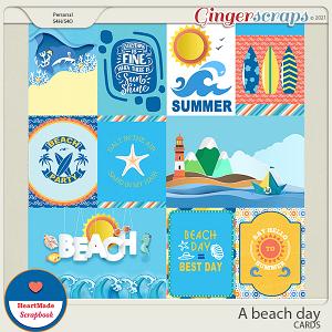 A beach day - cards