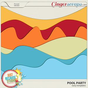 Pool Party Wavy Templates by JB Studio