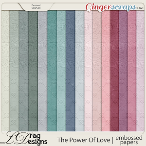 The Power Of Love: Embossed Papers by LDragDesigns