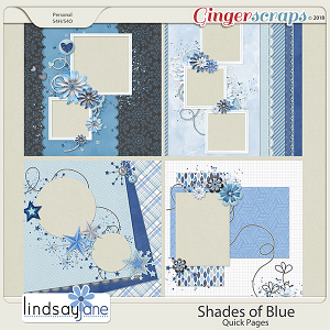 Shades of Blue Quick Pages by Lindsay Jane