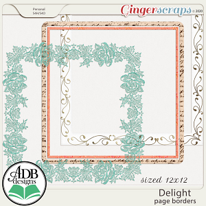 Delight Page Borders by ADB Designs