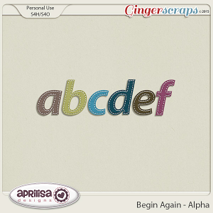 Begin Again - alpha by Aprilisa Designs