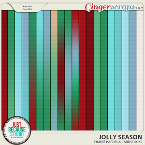 Jolly Season Ombré Papers & Cardstocks by JB Studio