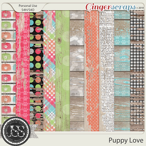 Puppy Love Worn Wood Papers