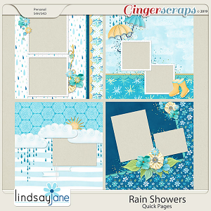Rain Showers Quick Pages by Lindsay Jane