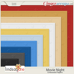 Movie Night Embossed Papers by Lindsay Jane